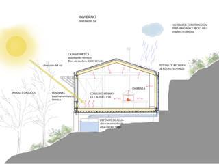 Casas de estilo  por dom arquitectura