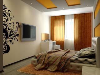 Дизайн современной спальни Спальня в стиле модерн от Цунёв_Дизайн. Студия интерьерных решений. Модерн