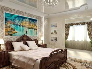 クラシカルスタイルの 寝室 の Цунёв_Дизайн. Студия интерьерных решений. クラシック