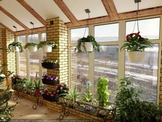 Дизайн зимнего сада Зимний сад в стиле кантри от Цунёв_Дизайн. Студия интерьерных решений. Кантри