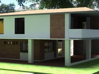Casa Cristo Rey: Casas de estilo  por Santiago Zuluaga Arroyave, Moderno