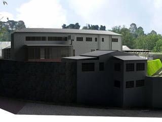 -Vivienda - Casa Arzobispal - Esquema remodelación  - Manizales - Barrio La Francia:  de estilo  por Santiago Zuluaga Arroyave, Ecléctico