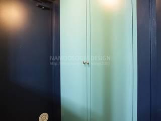 나무숨인테리어 現代風玄關、走廊與階梯