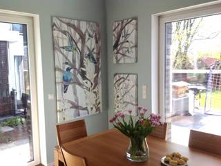 """""""Colibris"""" fur Esszimmer Silvia Betancourt Designs Wände & BodenWanddekorationen Textil Mehrfarbig"""
