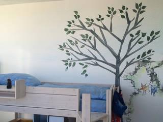 """Personalisierte Motiv """"Feldweg mit Katze"""" für einen Kinderzimmer Silvia Betancourt Designs Wände & BodenTapeten Papier Mehrfarbig"""