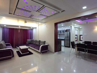 YOGESH KATARIA-VALSAD Modern living room by PSQUAREDESIGNS Modern