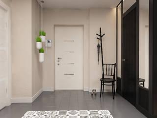 Couloir, entrée, escaliers modernes par Катя Волкова Moderne