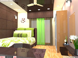 House in Mumbai Modern style bedroom by Ray Design World Modern