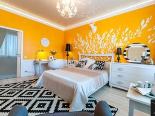 Желтый листопад: Спальни в . Автор – Yucubedesign