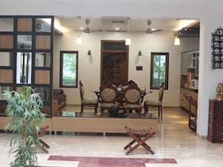 Kulkarni Bunglow Interior Modern living room by Prashanth Deshmukh & Associates Modern