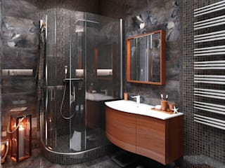Industrial style bathroom by СВЕТЛАНА АГАПОВА ДИЗАЙН ИНТЕРЬЕРА Industrial