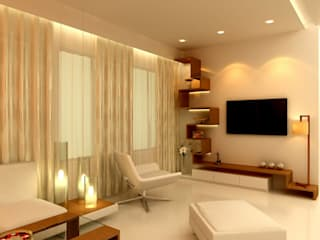Kunal & Associates Modern living room