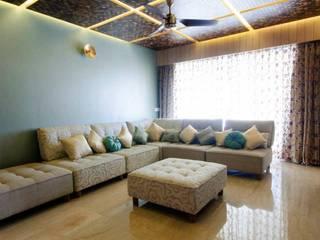 Mittal residence Modern living room by andblack design studio Modern