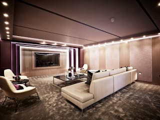 5&6 Connaught Place, Hyde Park, London. Ruang Media Klasik Oleh Flairlight Designs Ltd Klasik