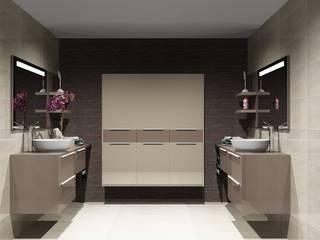 Cozinhas   Roupeiros   Moveis de banho: Casas de banho  por Amplitude - Mobiliário lda,Moderno