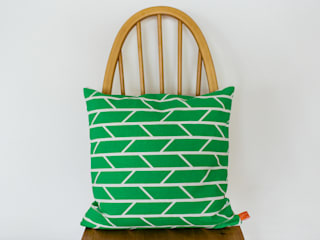 Convergence Cushion - Green:   by Laura Spring