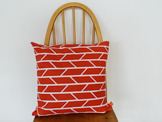 Convergence Cushion - Red:   by Laura Spring