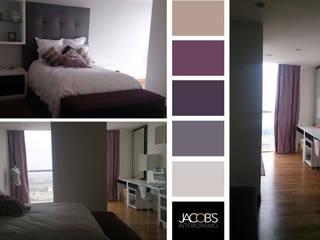 Recámara en la ciudad: Recámaras de estilo  por Jacobs Interiorismo