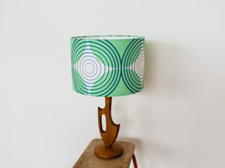 Eyespot Lampshade 30cm - Green:   by Laura Spring