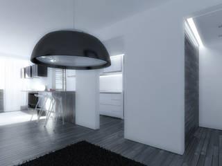 Apto PQ: Salas / recibidores de estilo  por Odart Graterol Arquitecto