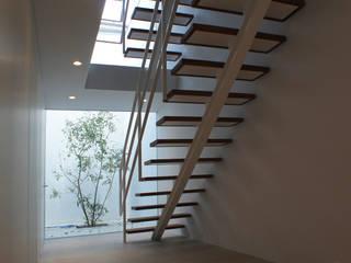 弥生町の家 モダンスタイルの 玄関&廊下&階段 の 東章司建築研究所 モダン