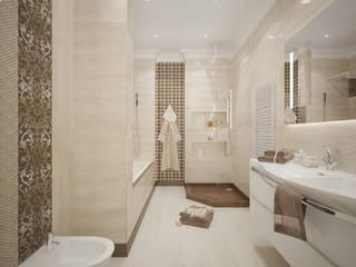 Salle de bains de style  par Студия дизайна Дарьи Одарюк,