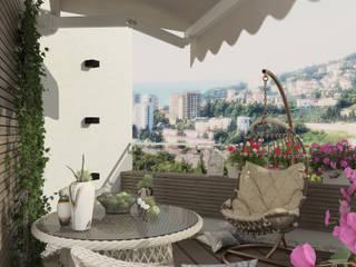 Terrasse de style  par Студия дизайна Дарьи Одарюк,