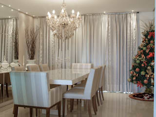 Dining room by Livia Martins Arquitetura e Interiores, Classic
