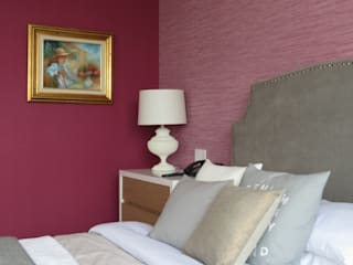 NIVEL TRES ARQUITECTURA Modern style bedroom Pink