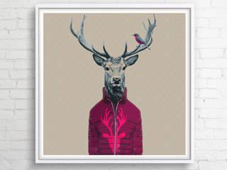 OBRAZ NA PŁÓTNIE 100x100 cm: styl , w kategorii  zaprojektowany przez KRZANOO ART' PRACOWNIA ARTYSTYCZNA
