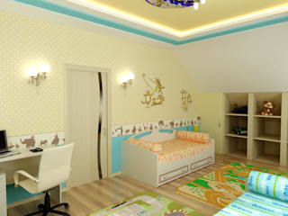 Modern nursery/kids room by Цунёв_Дизайн. Студия интерьерных решений. Modern