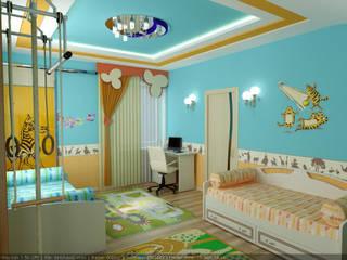 Minimalist nursery/kids room by Цунёв_Дизайн. Студия интерьерных решений. Minimalist