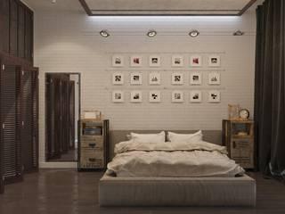 Визуализация Спальни в стиле Лофт Спальня в стиле лофт от Alyona Musina Лофт