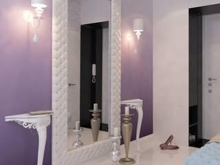 Визуализации проекта 3х комнатной квартиры Коридор, прихожая и лестница в модерн стиле от Alyona Musina Модерн