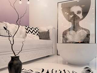 Визуализации проекта 3х комнатной квартиры Гостиная в стиле модерн от Alyona Musina Модерн