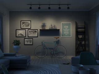 Salas de estilo escandinavo de Elisabetta Goso >architect & 3d visualizer< Escandinavo
