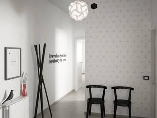 Scandinavian style corridor, hallway& stairs by Elisabetta Goso >architect & 3d visualizer< Scandinavian
