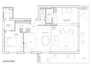 RÉNOVATION D'APPARTEMENT A ANTIBES par Luana Natale Architecte