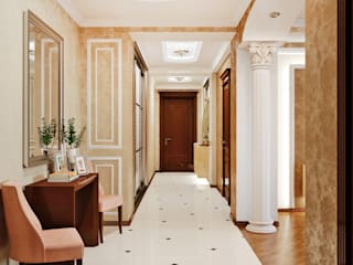 Modern Corridor, Hallway and Staircase by Студия дизайна Interior Design IDEAS Modern