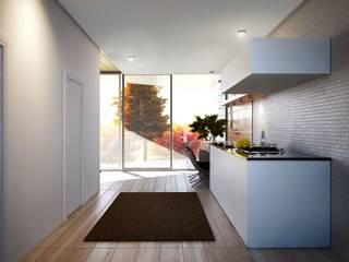 Проект дома в стиле минимализм / Minimalism house Кухня в стиле минимализм от Way-Project Architecture & Design Минимализм