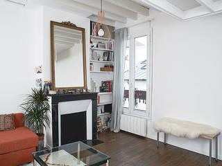 现代客厅設計點子、靈感 & 圖片 根據 Croisle Architecture 現代風
