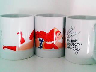 Mug Wonder Woman:  de style  par Fleur de Mamoot Design