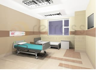 Proyecto de Ampliacion Hospital HER Cuartos de estilo clásico de retross arquitectura y proyectos Clásico