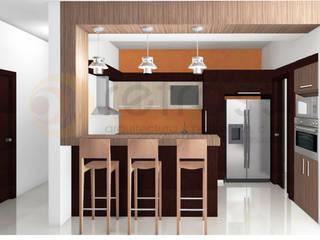 Apartamento 110m2 Cocinas de estilo minimalista de retross arquitectura y proyectos Minimalista