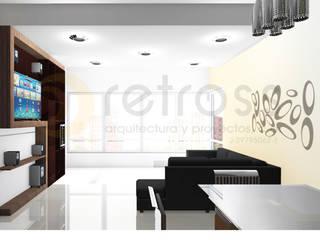 Apartamento 110m2 Salas de estilo minimalista de retross arquitectura y proyectos Minimalista