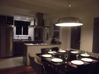 Loft de 104,00m2: Salas de jantar  por Daniele Rossi Lopes Arquitetura e Design,Moderno