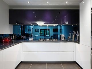 Luxury Modern Cottage Buckinghamshire Quirke McNamara Minimalist kitchen White