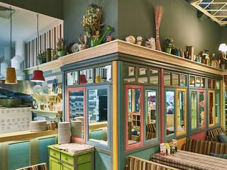 PESTO CAFE: интерьер итальянского ресторана от Студия дизайна Саши Федоренко Эклектичный
