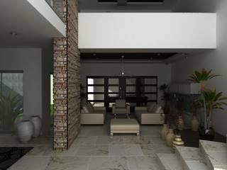 PROYECTO RUBIO: Salas de estilo  por OLLIN ARQUITECTURA