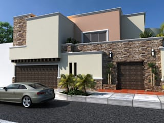 PROYECTO RUBIO: Casas de estilo  por OLLIN ARQUITECTURA